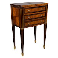 French Louis XVI Style Marquetry Side Table