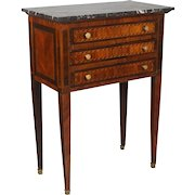 19th c. Louis XVI Style Marquetry Side Table