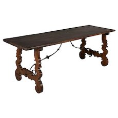 Early 18th Century Spanish Baroque Table or Refectory Table
