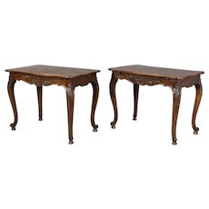 Pair of 19th c. French Parquet Top Tables