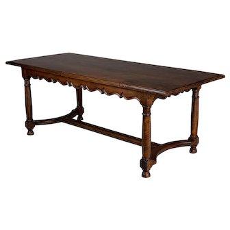 19th c. French Walnut Farm Table