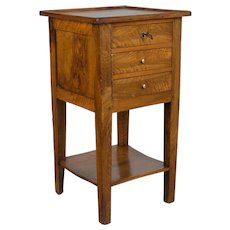 Country French Solid Walnut Side Table