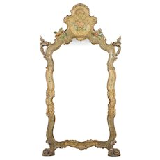 19th c. Venetian Painted Mirror