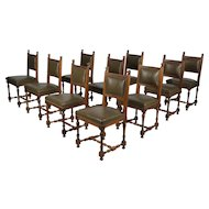 Set of Ten 19th c. French Dining Chairs