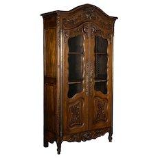 Louis XV Style Provençal Vitrine or Display Cabinet