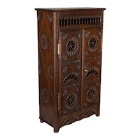 French Miniature Brittany Armoire or Doll Furniture
