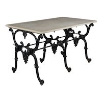 19th Century French Iron Butcher Table