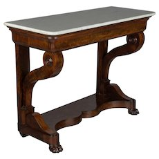 19th Century French Louis-Philippe Mahogany Console