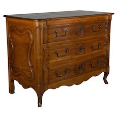 18th c. Louis XV Style Walnut Commode