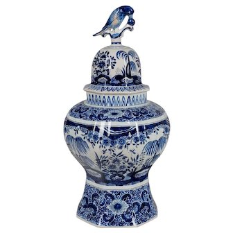 19th c. Delft Faience Ginger Jar