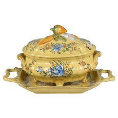 French Faience Soup Tureen & Platter
