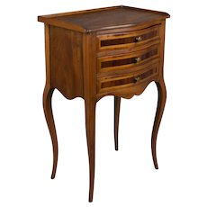 French Louis XV Style Marquetry Side Table