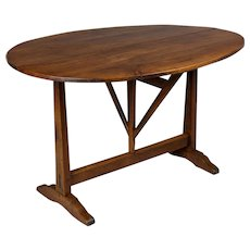 19th Century French Tilt-Top Oval Table