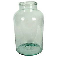 Early 20th Century Antique French Glass Jar