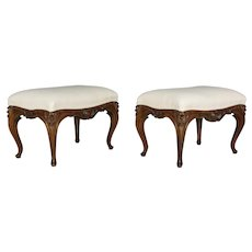 Pair of Louis XV Style Foot Stools or Benches
