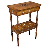 19th c. French Marquetry Side Table
