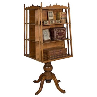 19th c. French Rotating Bookshelf