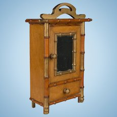 19th c. French Doll Armoire
