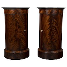 Pair of 19th c. Louis Philippe Style Pedestal Cabinets