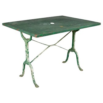 French Cast Iron Bistro Table