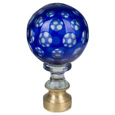 19th C. French Glass Boule d'Escalier