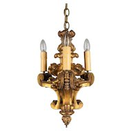 Early 19th Century Italian Giltwood Chandelier