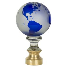 French Glass Boule d'Escalier Globe