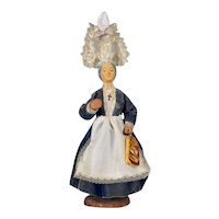 French Santon de Provence or Nativity Statue of a Brittany Woman
