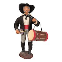 French Santon de Provence or Nativity Statue of a Drummer
