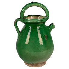 19th c. French Terracotta Vinaigrier or Vinegar Pot