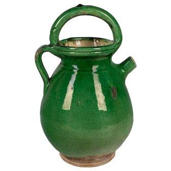 19th c. French Terracotta Vinaigrier or Vinegar Pot