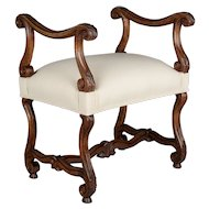 19th Century French Louis XIII Style Stool