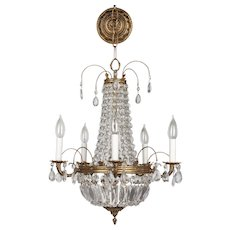 French Empire Style Crystal Chandelier