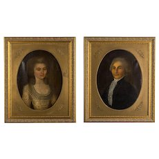Pair of 18th Century French Portraits