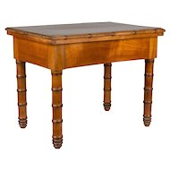 19th c. French Faux Bamboo Side Table