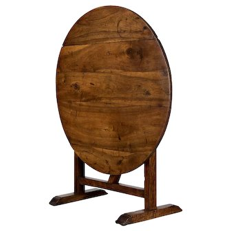 French Wine Tasting Table or Tilt-Top Table