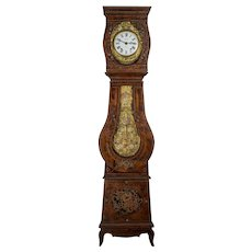 19th Century French Comtoise Grandfather Clock