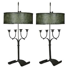 Pair of French Bouillotte Candelabras
