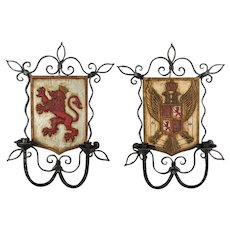 Pair of French Wrought Iron Candle Sconces