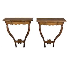 Pair of 18th c. French Console Tables