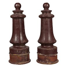 Pair of French Cast Iron Posts