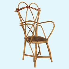 French Wicker Doll Chair
