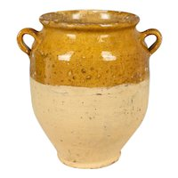 Antique French Glazed Terracotta Confit Pot