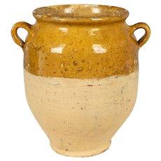 Antique French Glazed Terracotta Confit Pot