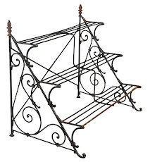French Wrought Iron Garden Shelf