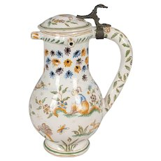 18th Century French Moustiers Faience Pitcher