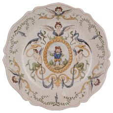 19th Century French Blois Faience Plate