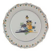 18th Century French Faience Plate