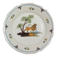 19th Century French Nevers Faience Plate