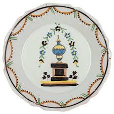 18th Century French Nevers Faience Plate